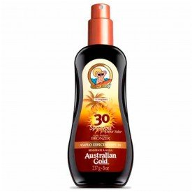 protetor bronzeador spray gel australian gold fps 30 237g