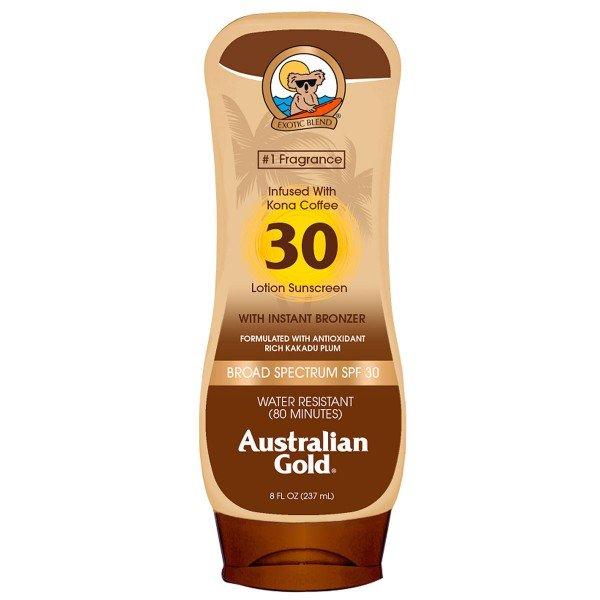 protetor solar kona coffee locao australian gold fps 30 237ml