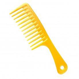 pente dente largo amarelo
