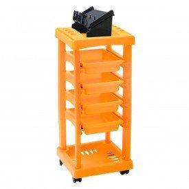 carrinho barbeiro laranja