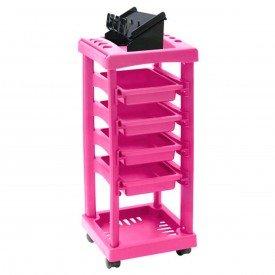 carrinho barbeiro rosa