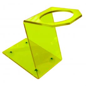 suporte secador amarelo