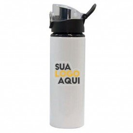 garrafa aluminio branca