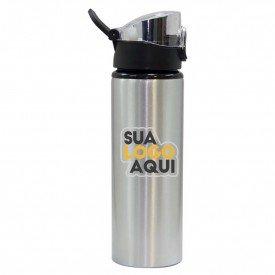 garrafa aluminio prata