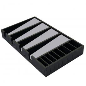caixa 4 maquinas cinza