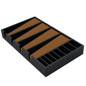 caixa 4 maquinas marrom