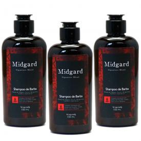 shampoo de barba midgard 3uni