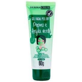 gel facial peel off argila verde