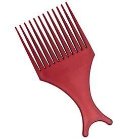pente afro bonitta vermelha