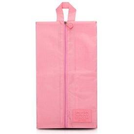 bolsa porta sapato rosa
