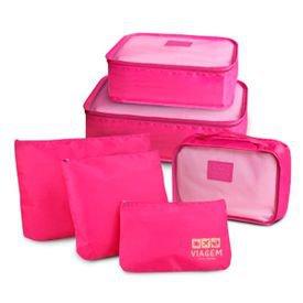 kit organizador de malas pink
