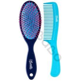 kit escova pente azul